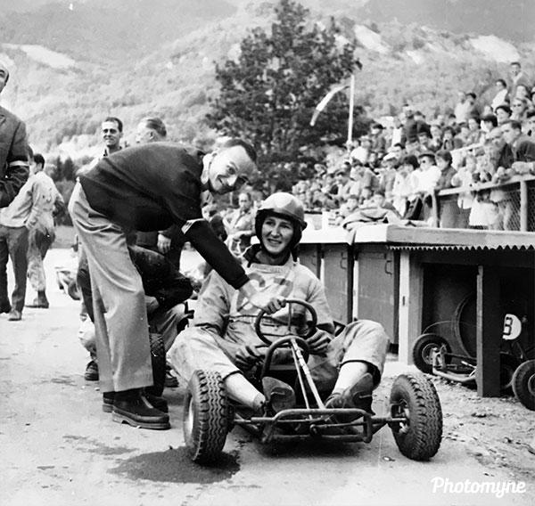 Compétition de Kart (Go-Kart competition). France 1960