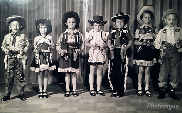 Tap dance class. USA 1955