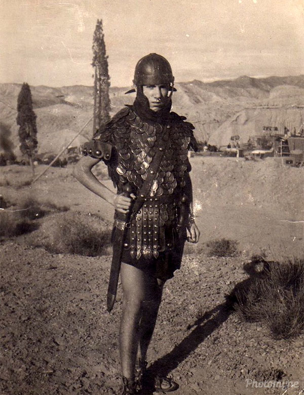 Dad on the set of Cleopatra (Elizabeth Taylor and Richard Burton). Spain 1962