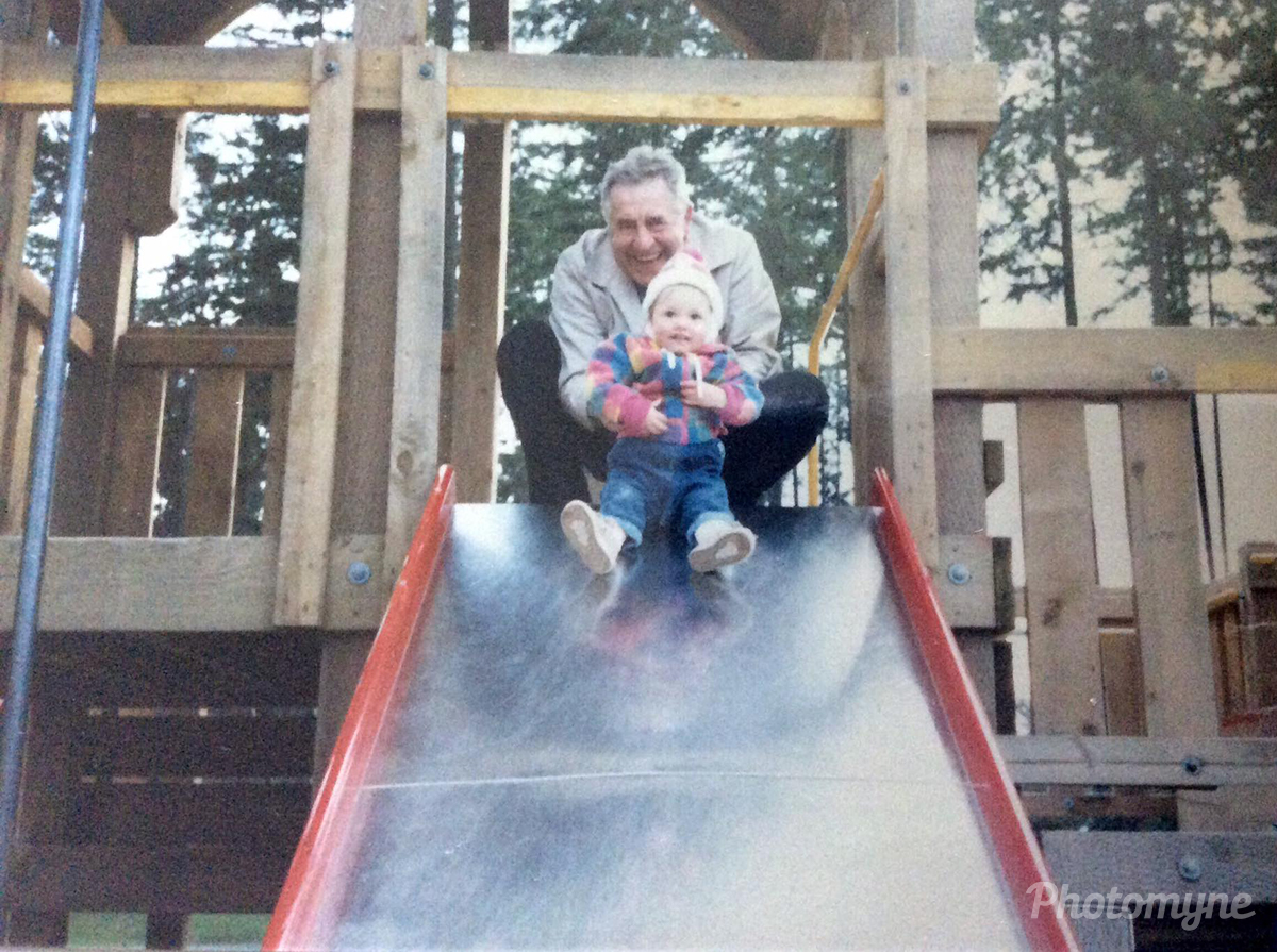My Dad and my daughter. He passed away last June so my first Father's Day without him, may he rest in peace, love you so much dad. Canada 1986