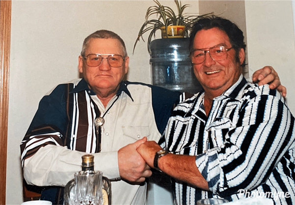 Jack and Jim Tyler on Thanksgiving. Canada 1997