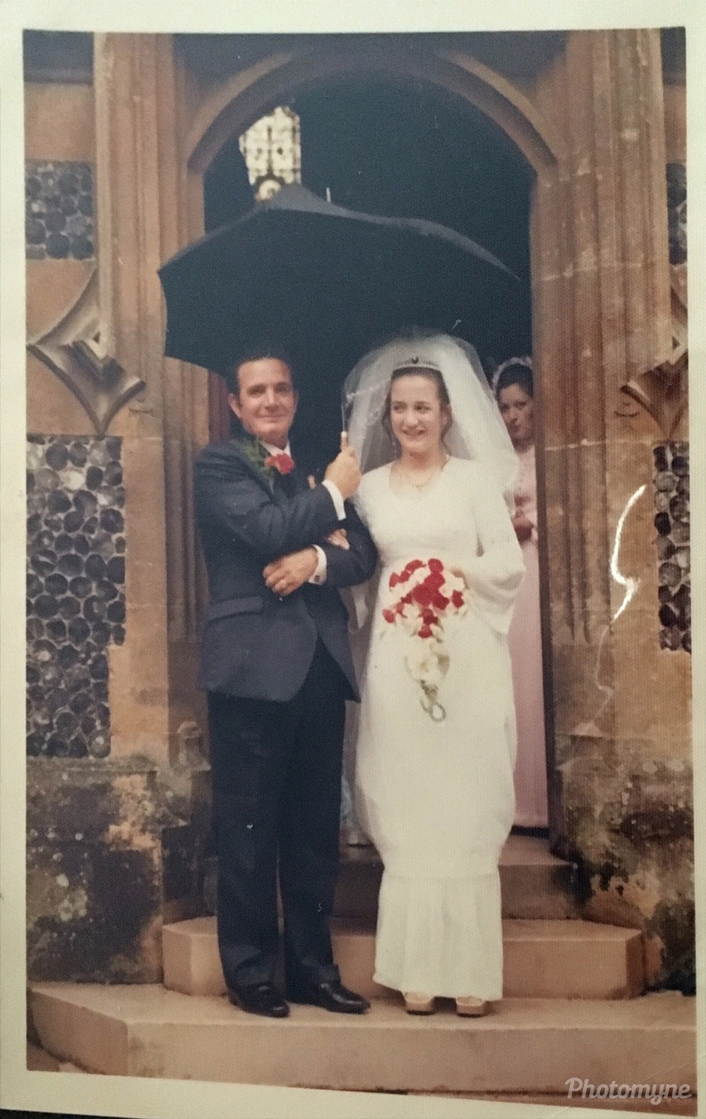 My wedding day with my father, Lynford, 1972