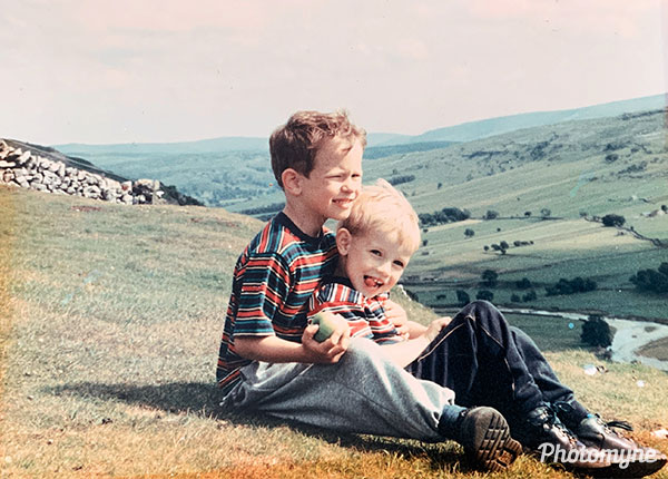 M and D in Yorkshire Dales National Park. North Yorkshire, UK 1985