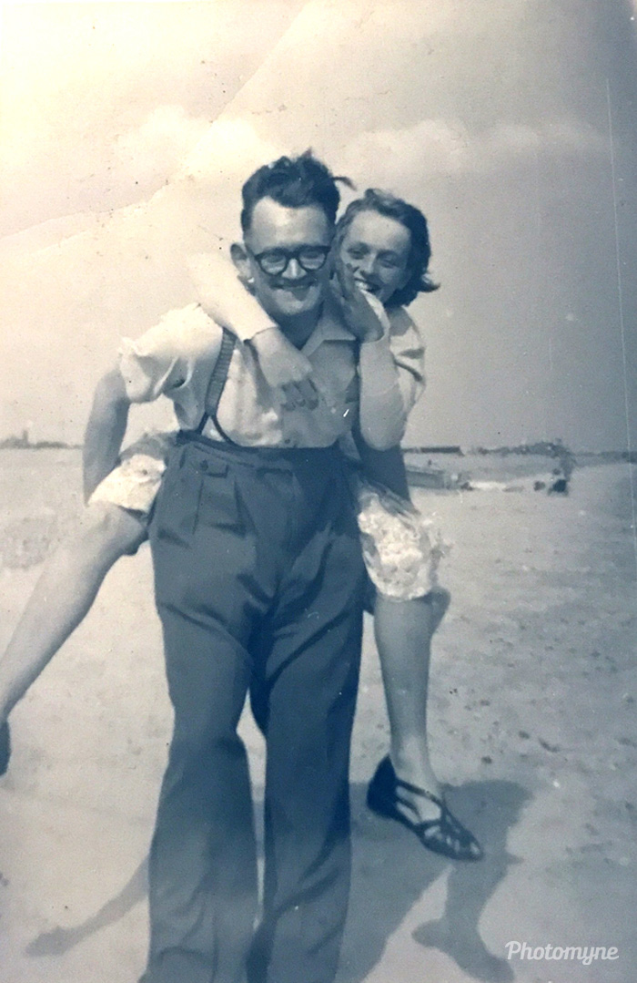 At the seaside, Portsmouth, United Kingdom, 1957