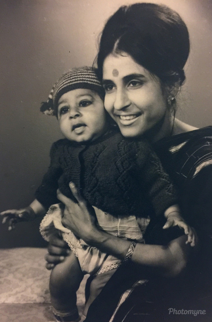 Me and Mom, New Delhi, India, 1971