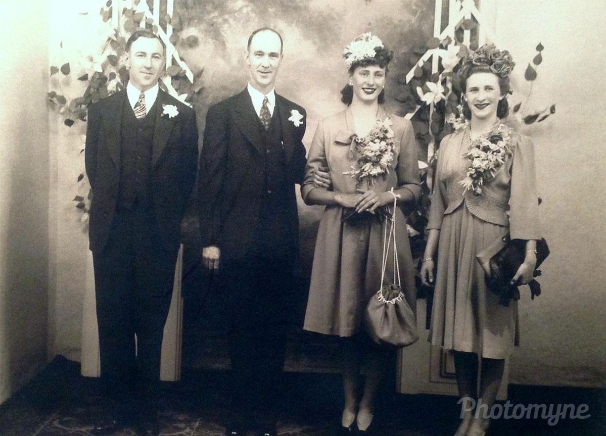 Mom and Dad, Chilliwack, British Columbia, Canada, 1945