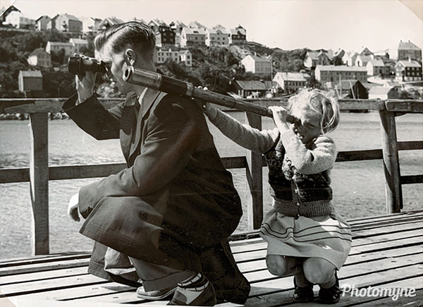Looking at the birds. Norway 1953