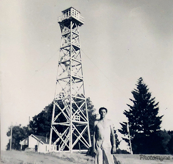 Lookout tower. USA 1957