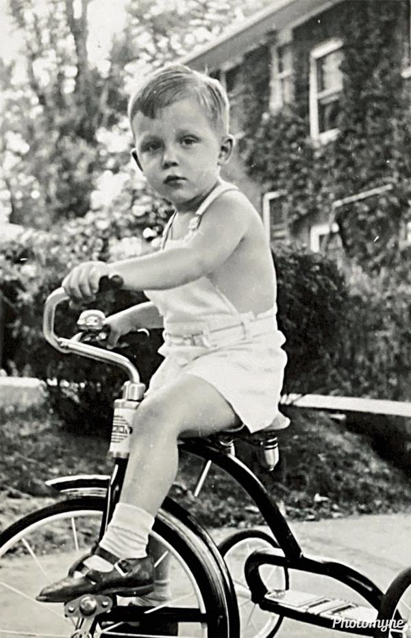 Robert and his bike. USA 1951