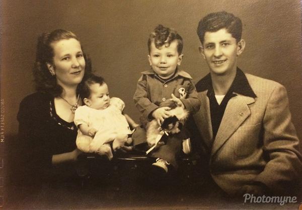 Houston and Naomi Baldridge with Hugh and Paulette. California, USA 1948