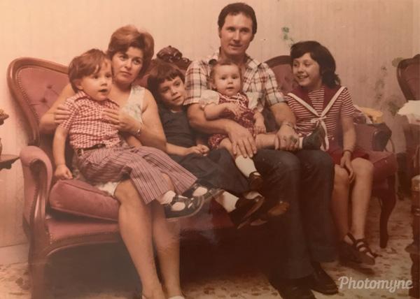 Io e la mia famiglia (me and my family). Italy 1972