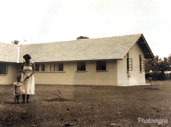 The new home of Joan in Kelantan. Malaysia 1954