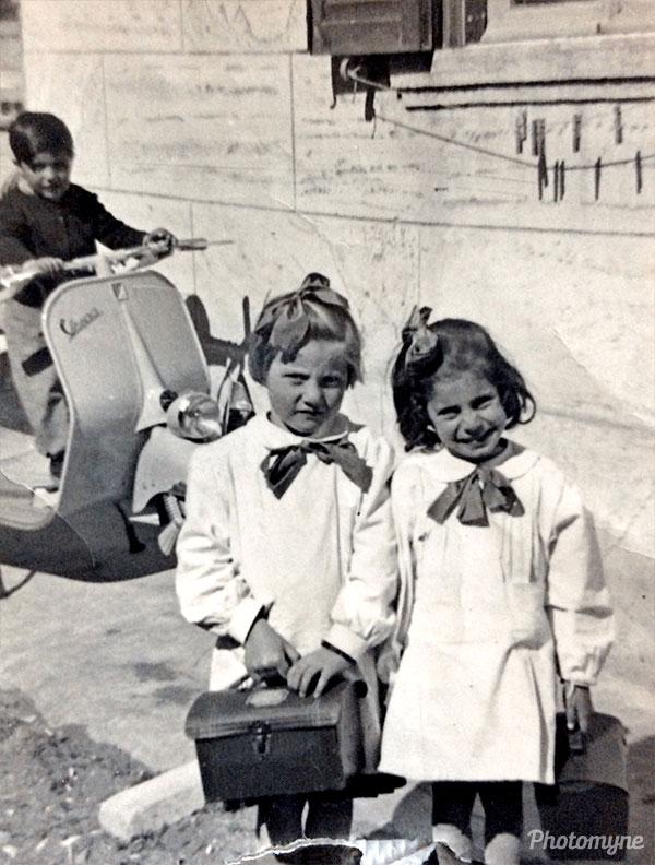 In kindergarten. Italy 1953