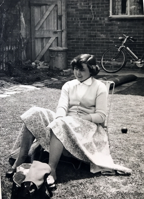 Barbara, my first girlfriend. UK 1954