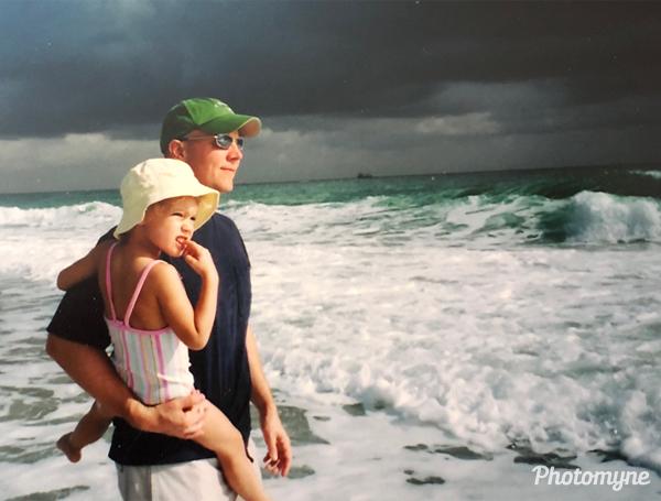 Spring break beach walk. USA 2005