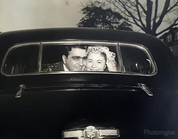 Off to honeymoon in New York! Massachusetts, USA 1947