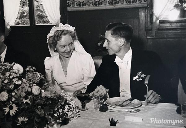 Hochzeit (Wedding). Switzerland 1945