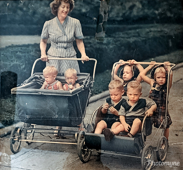 Pat Summers family... She is the little blond on the far right. USA 1949