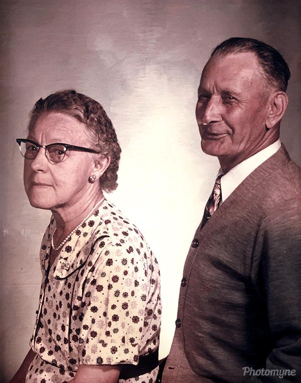 Grandpa never smiled. Such a rare pic. USA (year unknown)