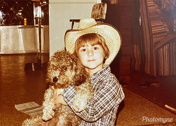 Colby and Tiffany the poodle. USA (year unknown)