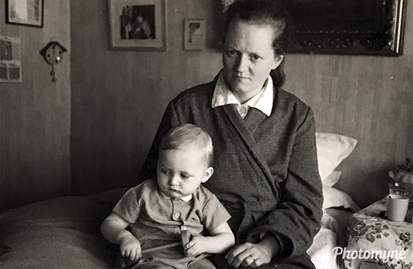 Mother and son. Belgium 1962