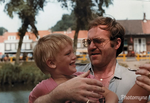 Love you, step pa. The Netherlands 1982