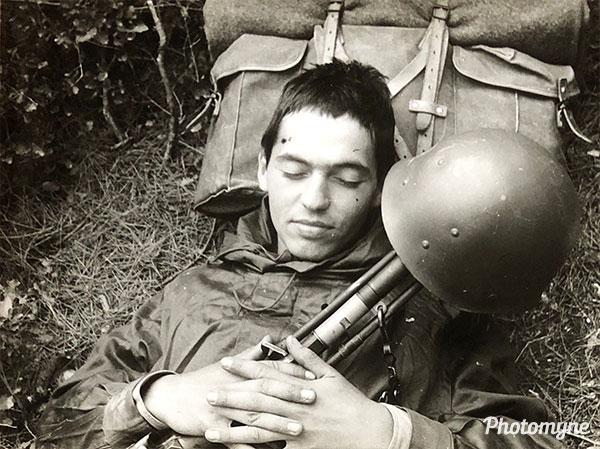 Fin d'une marche commando (end of a Commando March). France 1970
