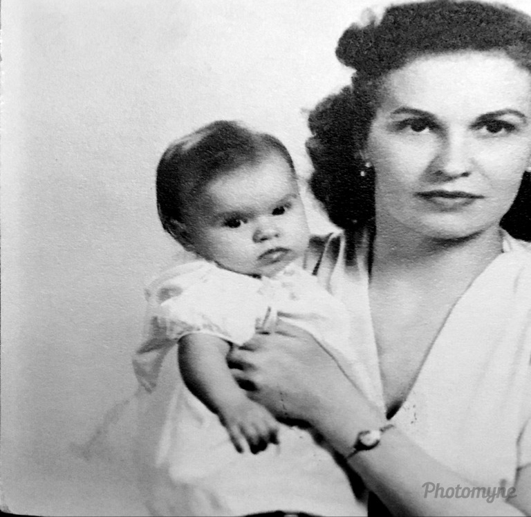 Mom and I, New Kensington, Pennsylvania, 1946
