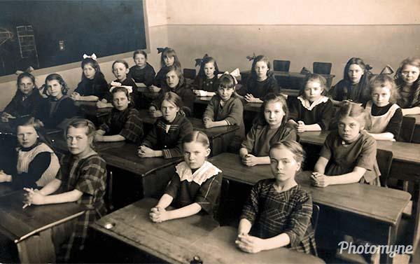 Mother's class. Sweden 1927