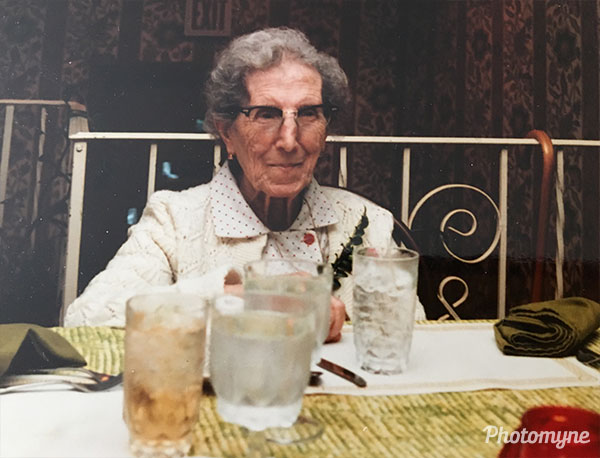 Grandma Grace at her 92nd birthday. USA 1984