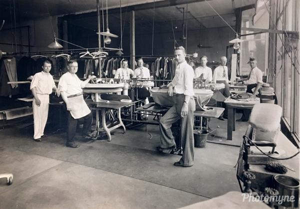 French Steam Dye Works. Indiana, USA 1920