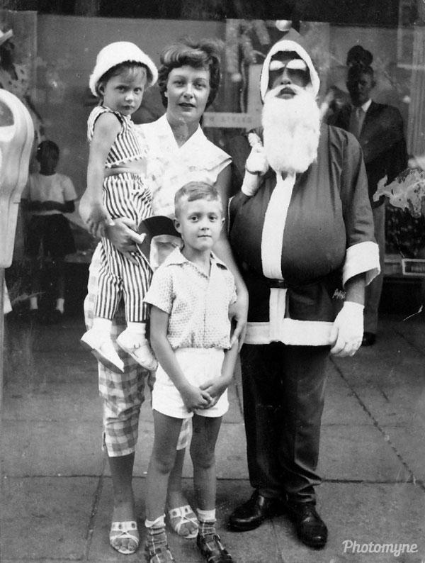 Christmas outside of Bazaar's. Australia 1962