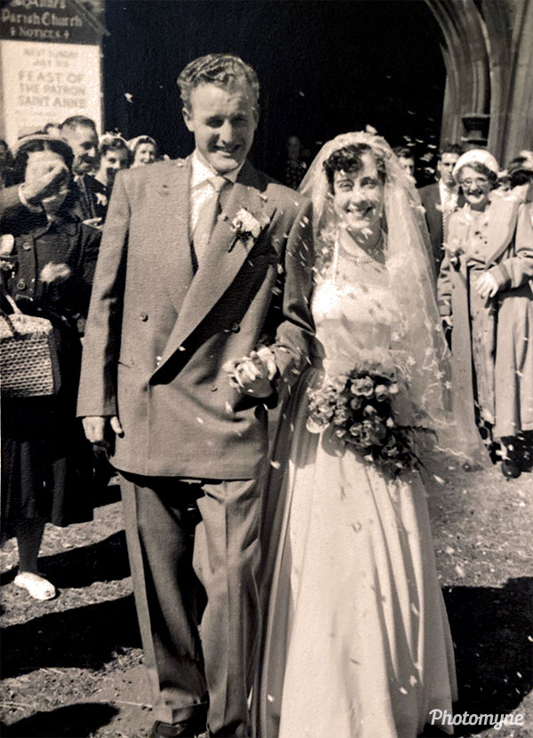 Wedding. Great Britain 1955