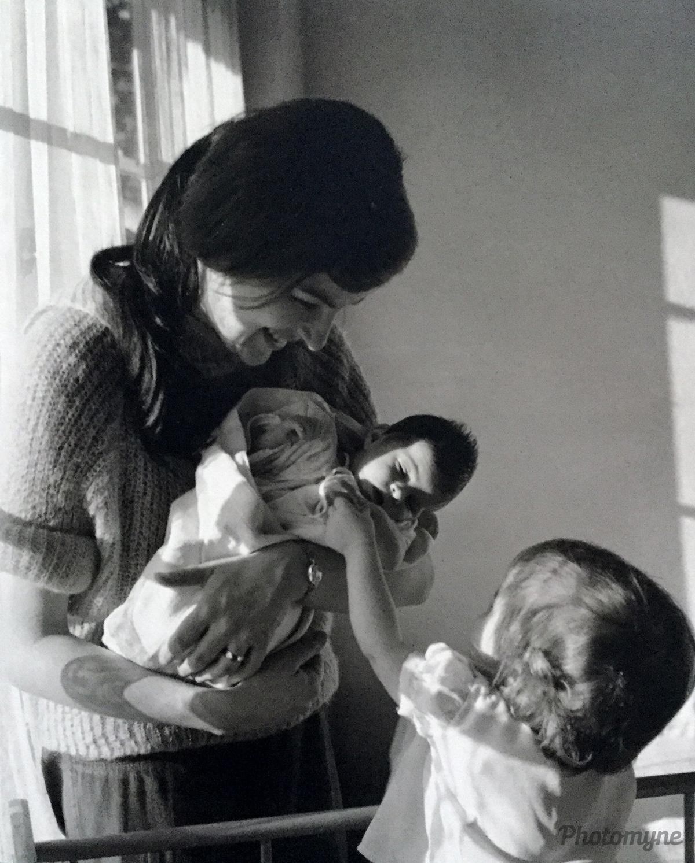 Hello baby sister! Vancouver, British Columbia, Canada, 1963