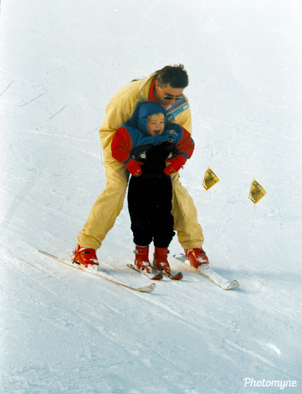 Robert on his skis. Netherlands 1991