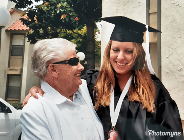 Grandma Florine with Susan at her graduation from CSUF. USA (date unknown)