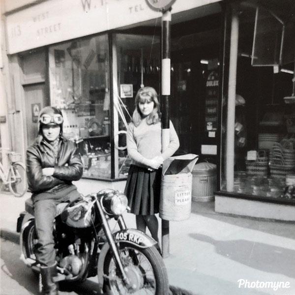The BSA C15 motorcycle. UK 1964