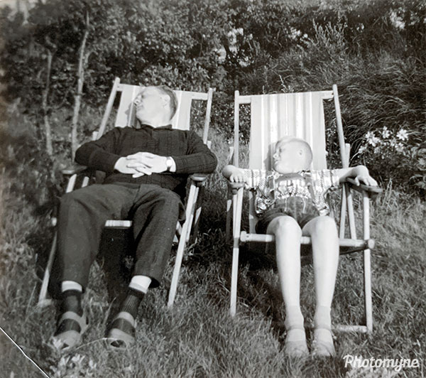 Sea air makes even tough guys tired. Germany 1960