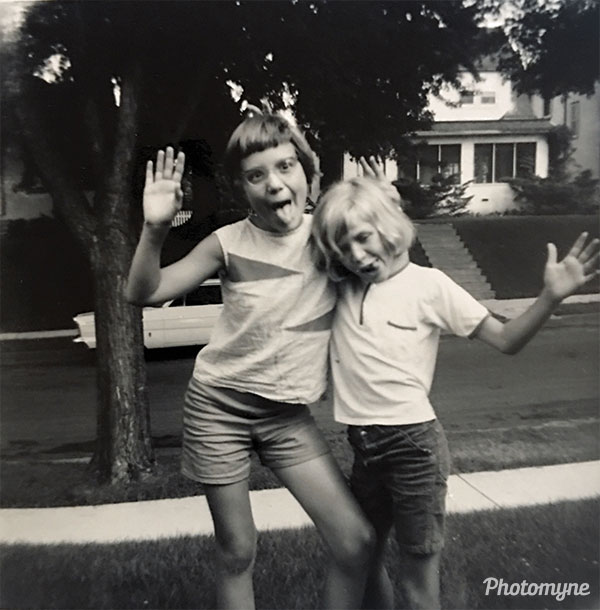 Me and Kym Spotts in our front yard on Abbott Ave. MN, USA 1965