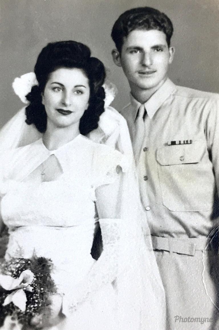 Mom & Dad's wedding, Brooklyn, New York, July 23, 1945