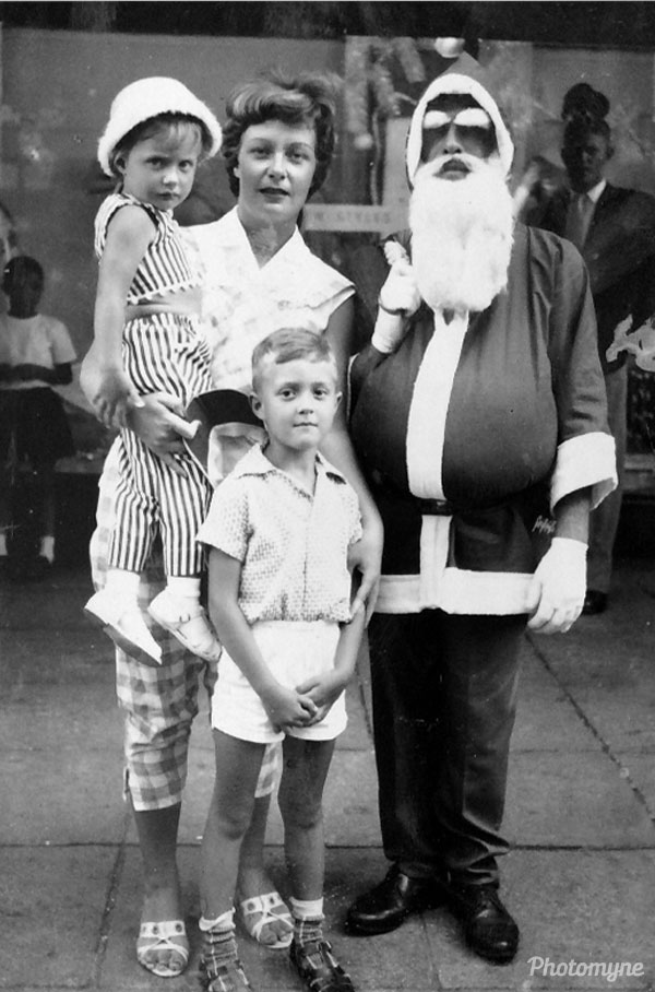 Christmas, outside of Bazaar's. Australia 1962