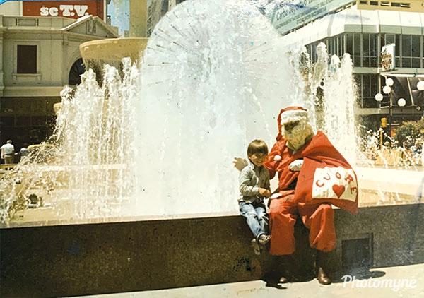 Navidad en Mar del Plata (Christmas in Mar del Plata). Argentina 1983