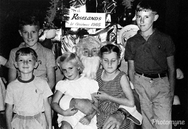 Christmas at Roselands, in their first year being open. Australia 1965
