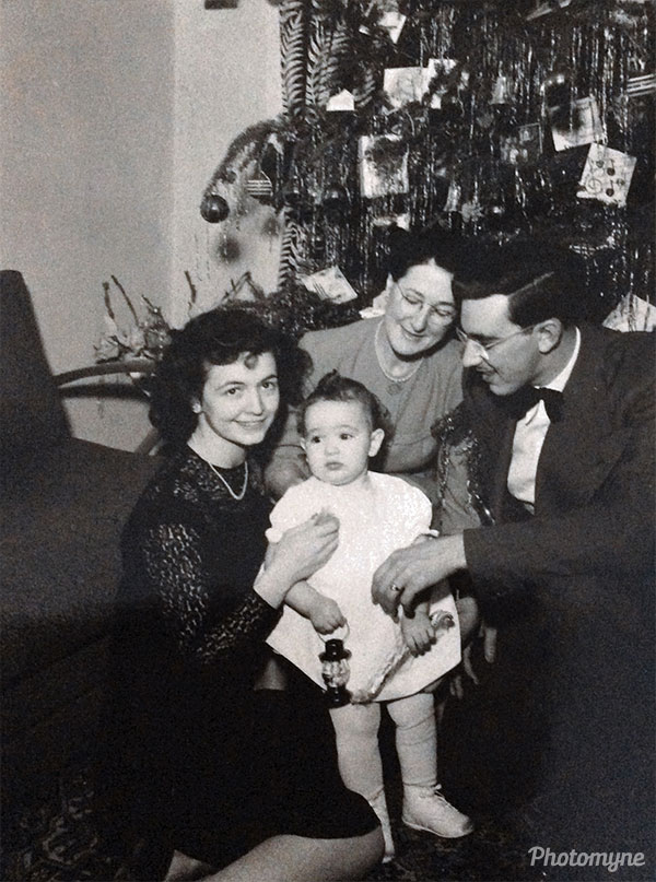 Mon premier Noël (My first Christmas). France 1946