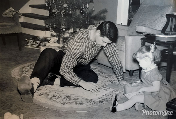 Christmas with Dad. USA 1957