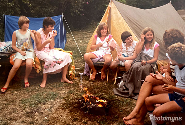 Camping in the backyard. Australia 1982