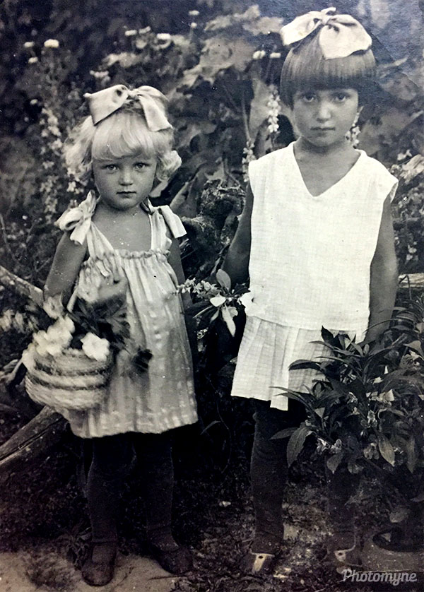 Две сестры (Two sisters). Russia 1932