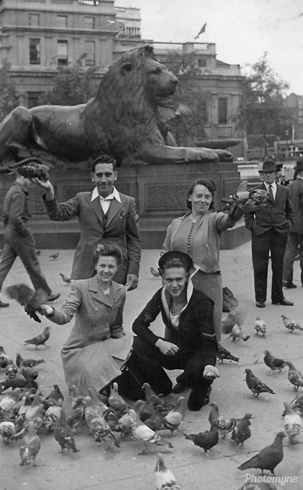 My mom, dad with mom's cousins Mary and Bill Maso. London, UK 1941