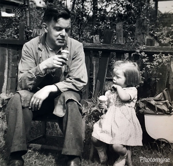 Dad and me. Great Britain 1952