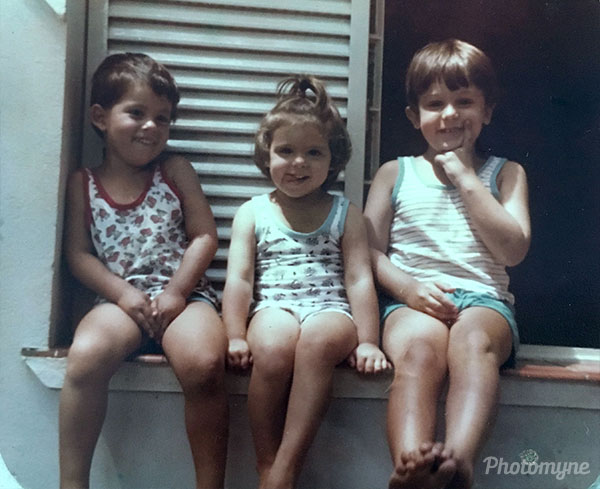 Tiago, Melissa, Caio. Location unknown 1984